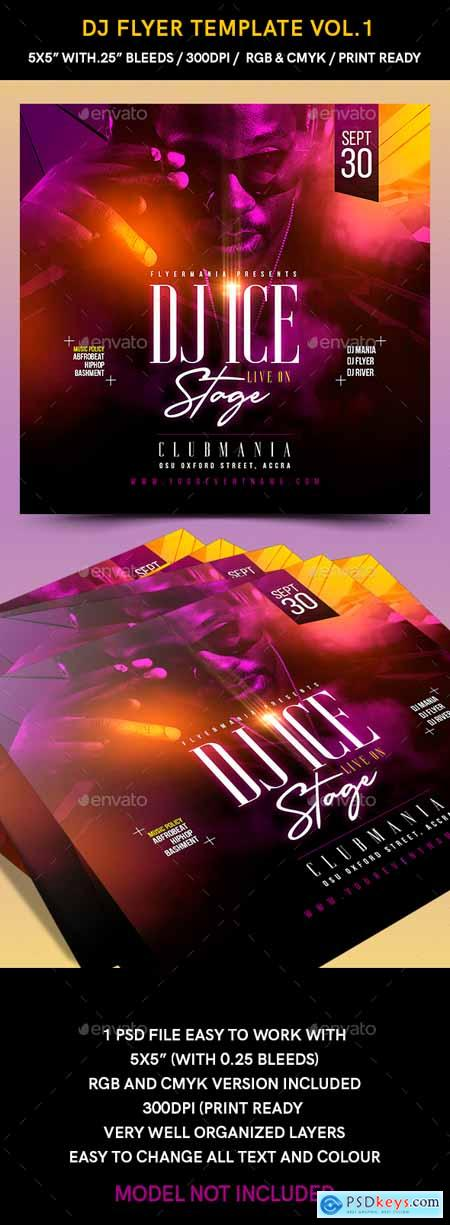 Graphicriver DJ Flyer Template Vol1