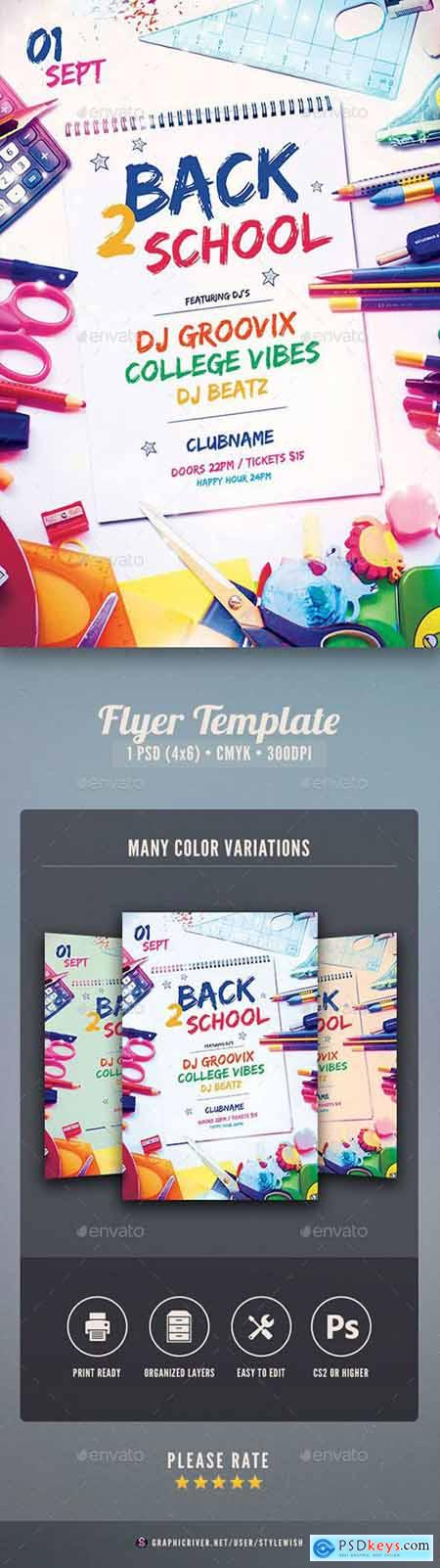 Graphicriver Back 2 School Flyer