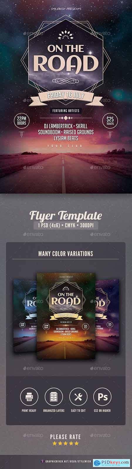 Graphicriver On The Road Flyer