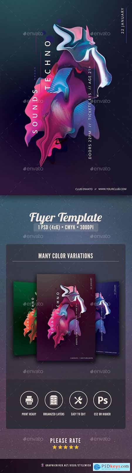 Graphicriver Techno Sounds Flyer