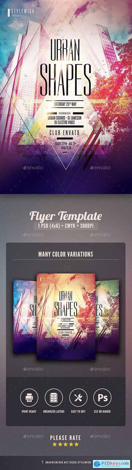 Graphicriver Urban Shapes Flyer