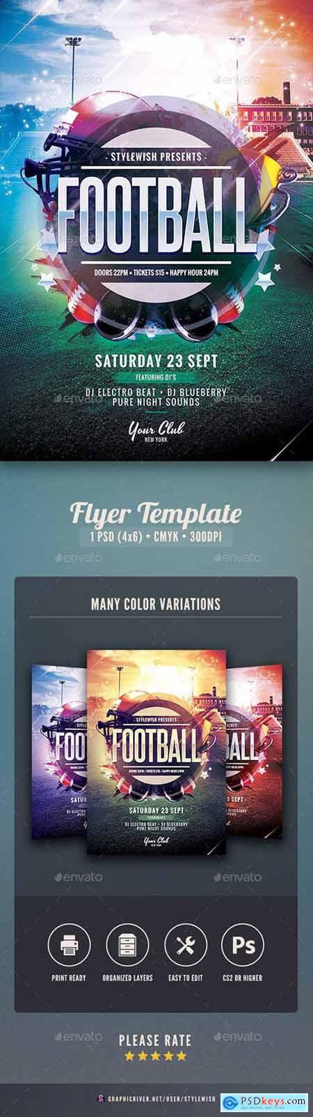 Graphicriver American Football Flyer