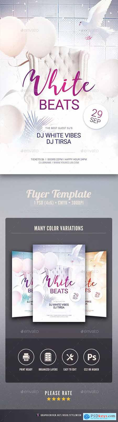 Graphicriver White Beats Flyer