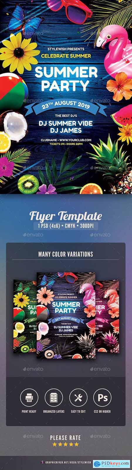 Graphicriver Summer Party Flyer