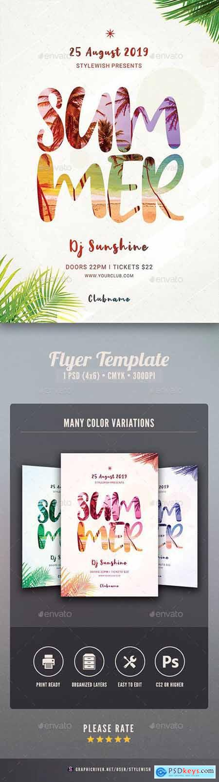 Graphicriver Summer Flyer