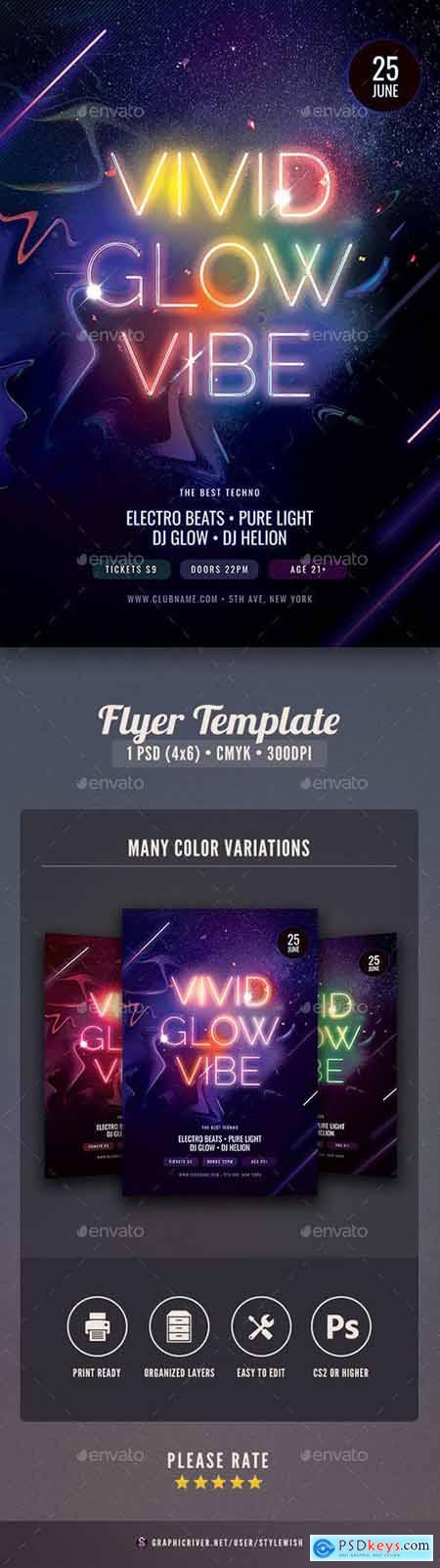 Graphicriver Vivid Glow Vibe Flyer