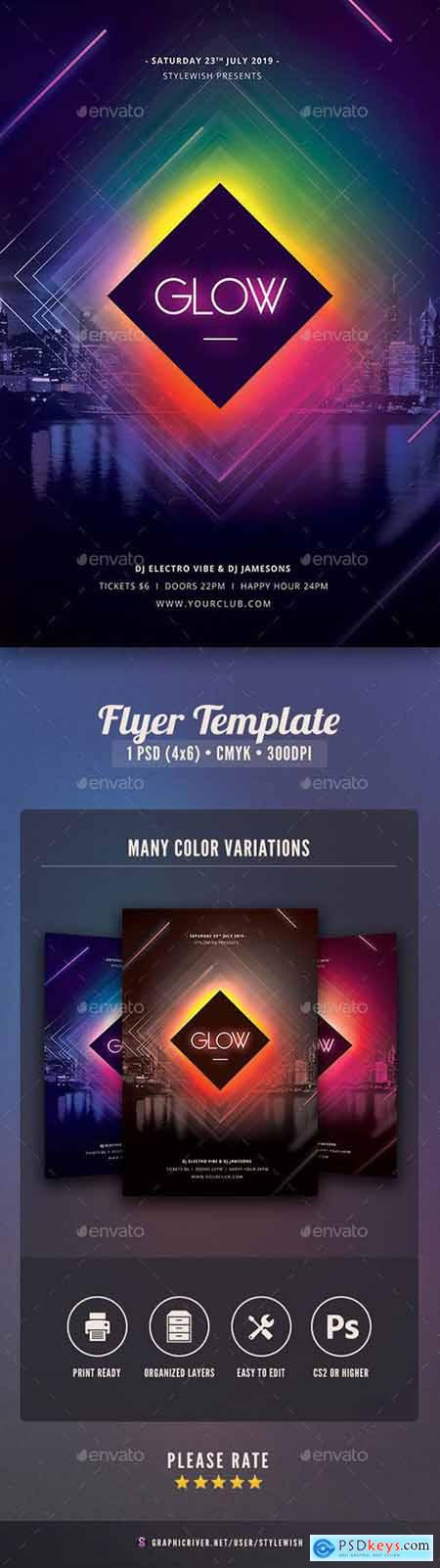 Graphicriver Glow Flyer