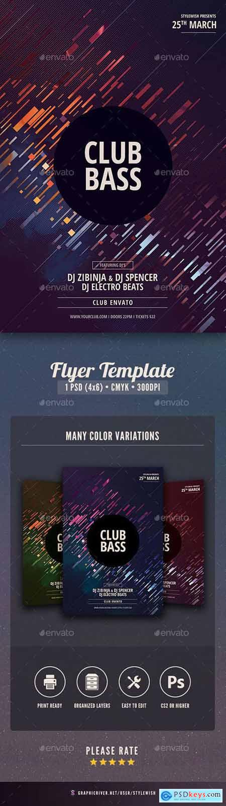 Graphicriver Club Bass Flyer