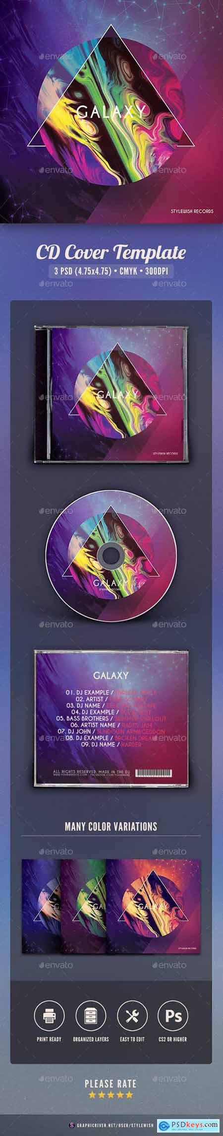 Graphicriver Galaxy CD Cover Artwork