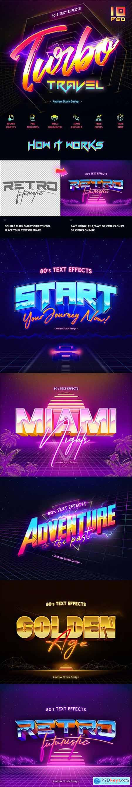 Graphicriver 80's Text Effects vol.2