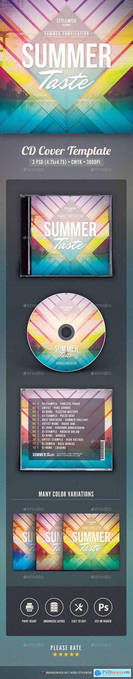 Graphicriver Summer Taste CD Cover Artwork