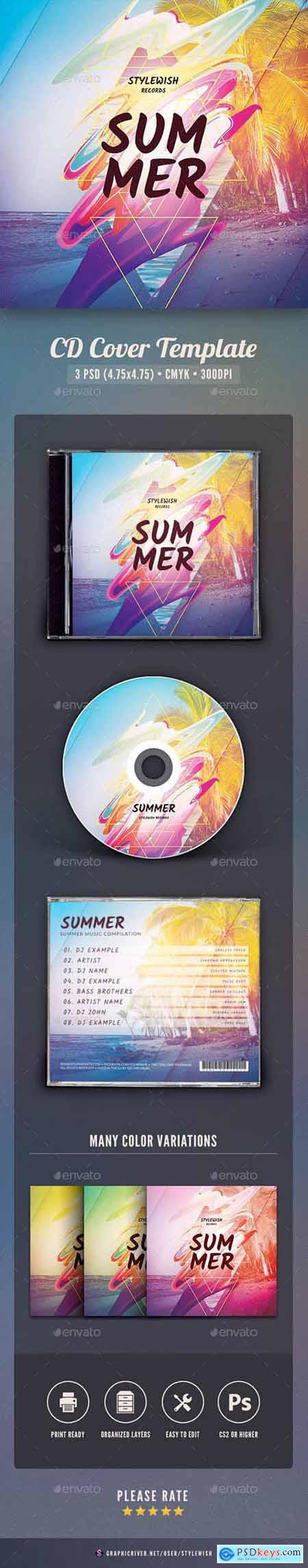 Graphicriver Summer CD Cover Artwork