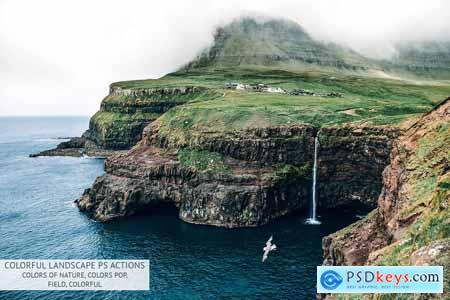 CreativeMarket Colorful Landscape Photoshop Actions