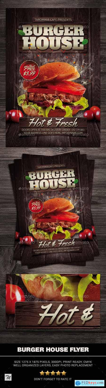 Graphicriver Burger House Flyer
