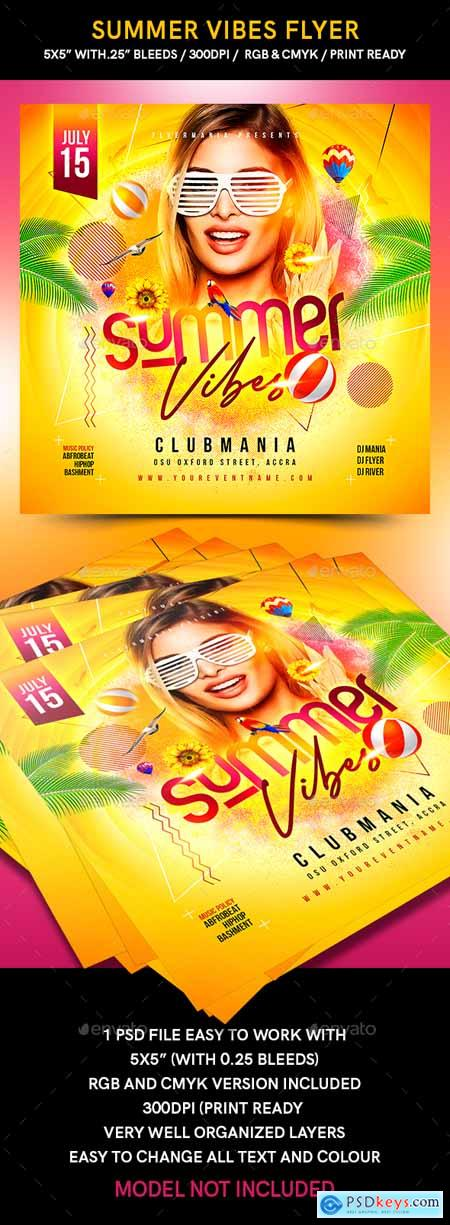 Graphicriver Summer Vibes Flyer