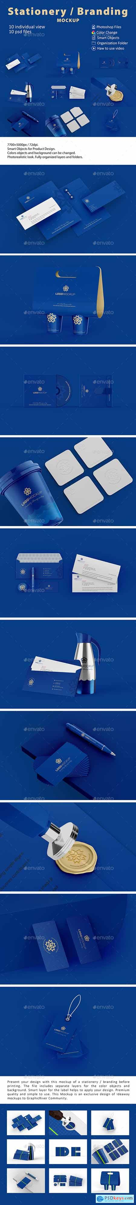 Graphicriver Stationery Branding Mockup