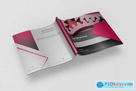 Creativemarket Bi-fold Square Brochure