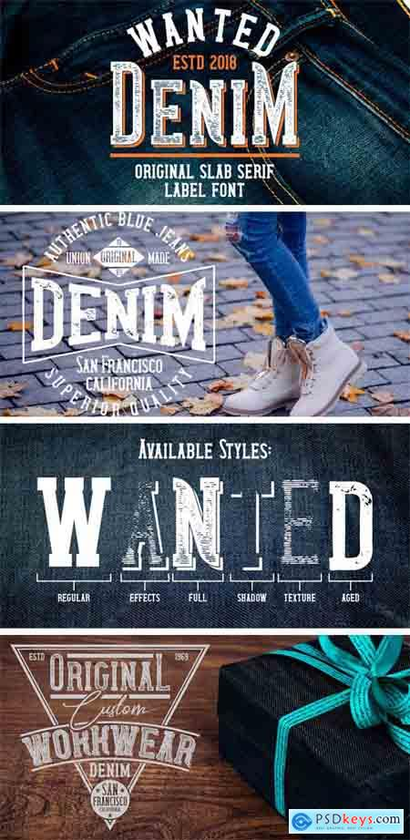 Wanted Denim Font Family