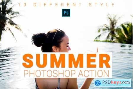 Creativemarket Summer Photoshop Action