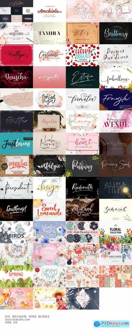 Creativemarket The Awesome April Bundle