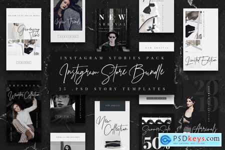 Creativemarket BW Instagram Stories Template Store