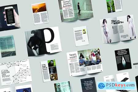 Creativemarket Magazine Template Bundle