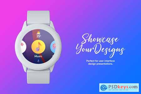 Creativemarket Samsung Galaxy Watch Design Mockup