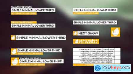 Videohive Simple Minimal Lower Third Free
