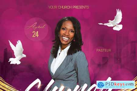 Creativemarket Church Conference Flyer Poster