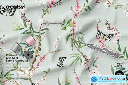 Creativemarket Creased Fabric Mockup 14 FF v 6