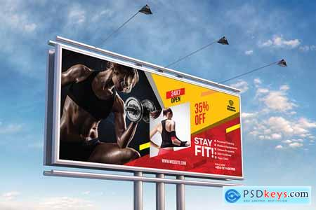 Thehungryjpeg Fitness Billboard Template