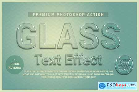 Creativemarket Glass Text Effect Photoshop Action
