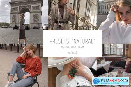 Creativemarket Natural Lightroom preset mobile