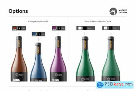 Creativemarket Wine Bottle Mockup Vol2