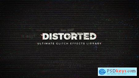 Videohive Distorted - Ultimate Glitch Effects Library Free