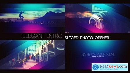 Videohive Elegant Intro - Sliced Photo Opener Free