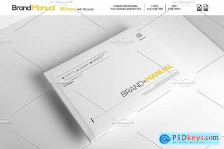 Creativemarket Brand Manual 28 Pages A4 US Letter