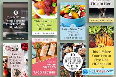 Creativemarket Pinterest Template in Canva - Pantry