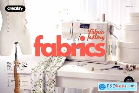 Creativemarket Fabric Factory v.6 Mockup Bundle