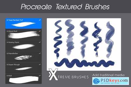 Creativemarket Procreate Texture Brushes BUNDLE