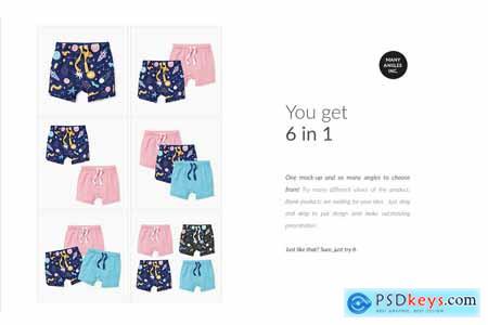 Creativemarket Baby Shorts Mock-ups Set & Generator