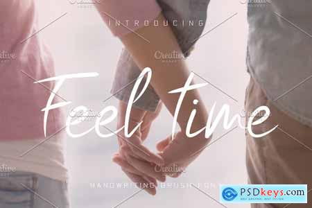 Creativemarket Feel Time Brush Font
