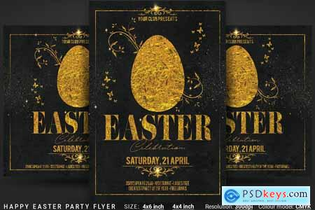 Creativemarket Happy Easter Party Flyer