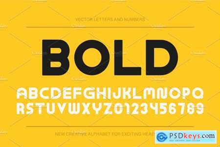 Creativemarket Modern bold english alphabet