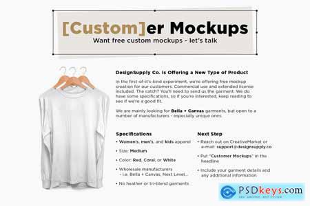 Creativemarket Rolled Cuff Muscle Tee Mockup