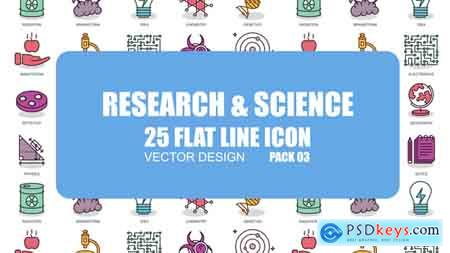 Videohive Research And Science - Flat Animation Icons Free