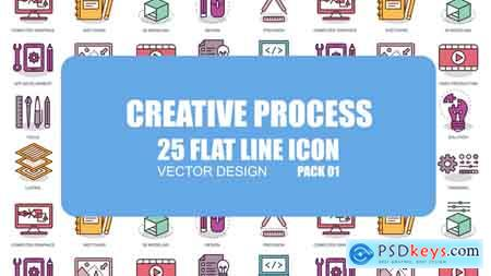 Videohive Creative Process - Flat Animation Icons Free