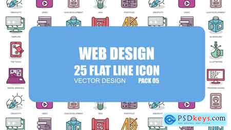 Videohive Web Design - Flat Animation Icons Free