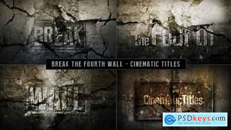 Videohive Cinematic Titles - Breaking The Fourth Wall Free