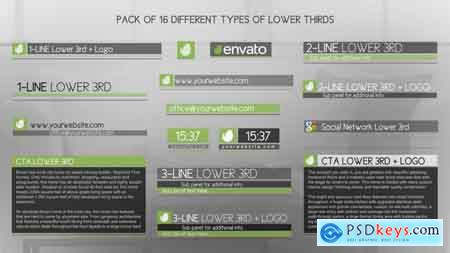 Videohive Discreet Simple And Modern Lower Thirds Package Free